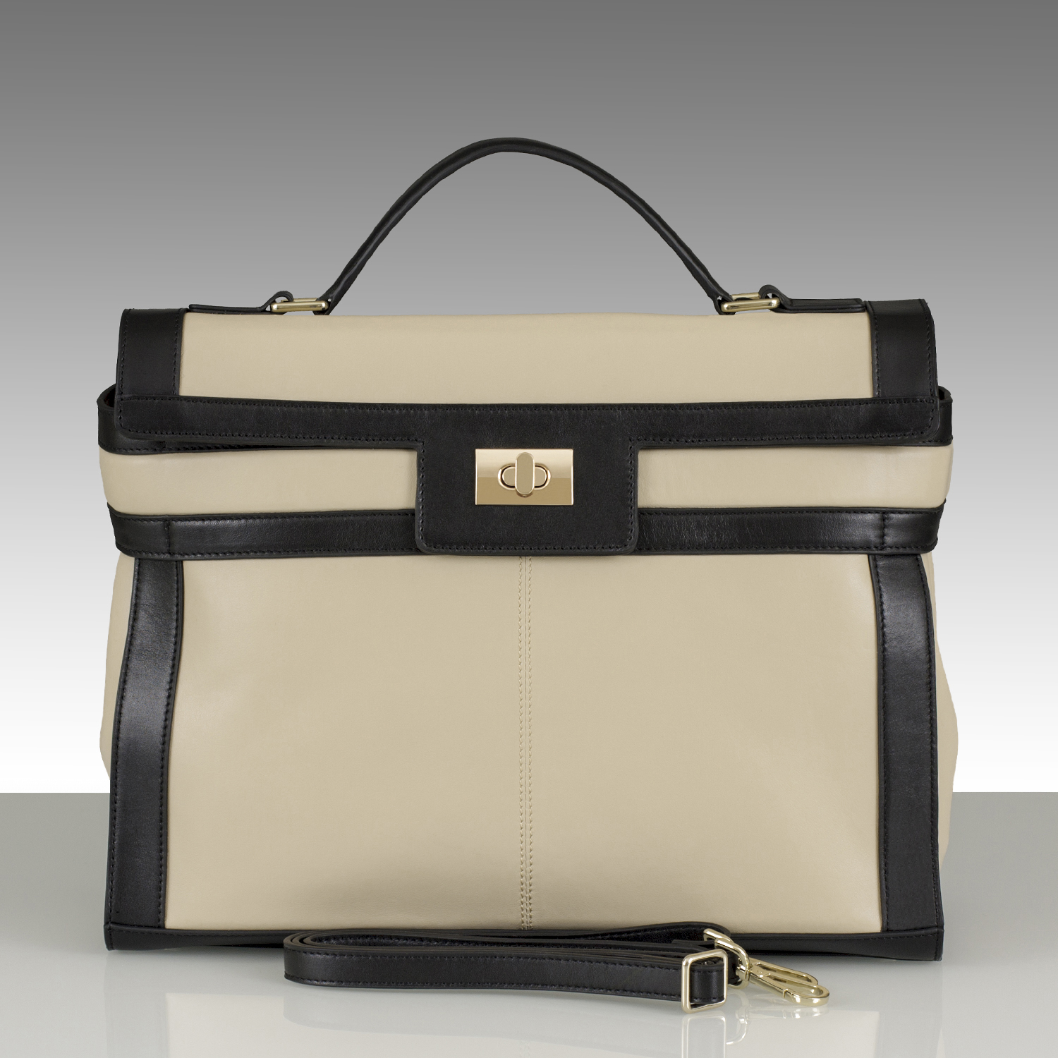Buy Carrara bag Beige/Black | designer handbags